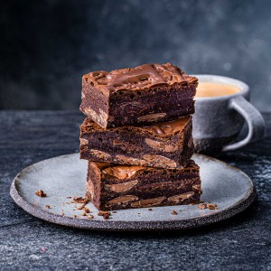 image of double chocolate brownie delivery