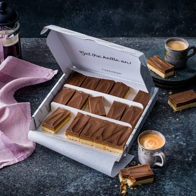 image of caramel shortbread delivery box